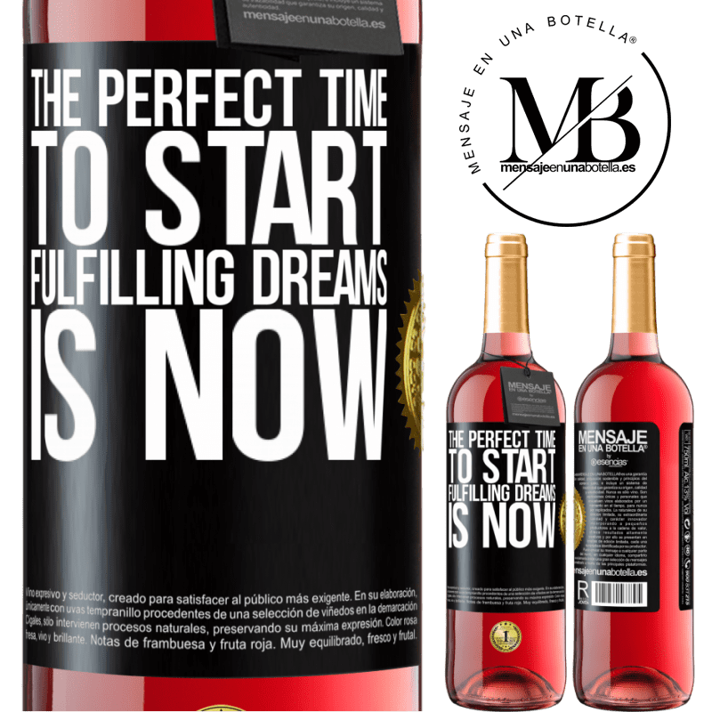 24,95 € Free Shipping | Rosé Wine ROSÉ Edition The perfect time to start fulfilling dreams is now Black Label. Customizable label Young wine Harvest 2020 Tempranillo