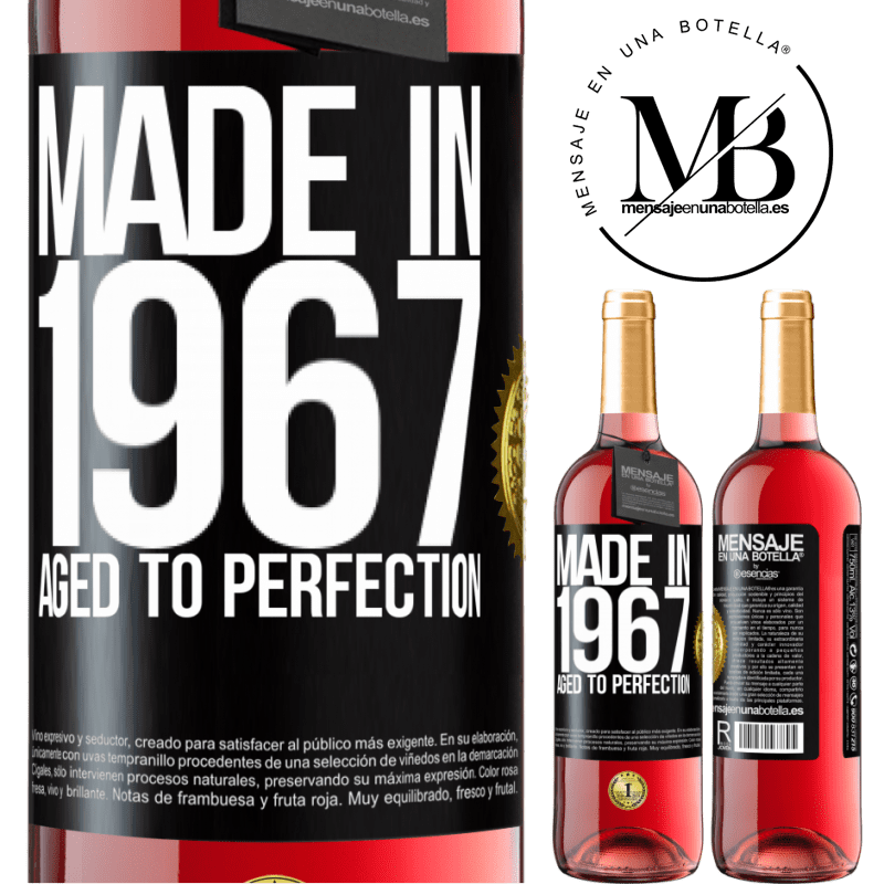 24,95 € Free Shipping | Rosé Wine ROSÉ Edition Made in 1967. Aged to perfection Black Label. Customizable label Young wine Harvest 2020 Tempranillo
