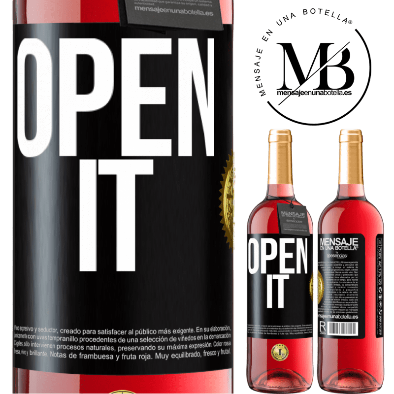 24,95 € Free Shipping | Rosé Wine ROSÉ Edition Open it Black Label. Customizable label Young wine Harvest 2020 Tempranillo