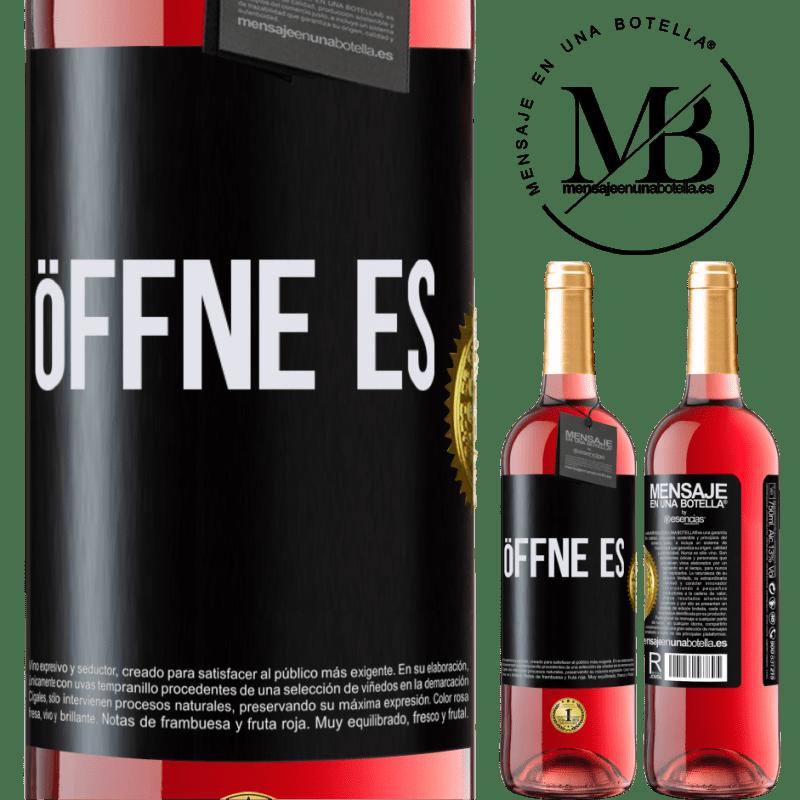 24,95 € Kostenloser Versand | Roséwein ROSÉ Ausgabe Öffne es Schwarzes Etikett. Anpassbares Etikett Junger Wein Ernte 2020 Tempranillo
