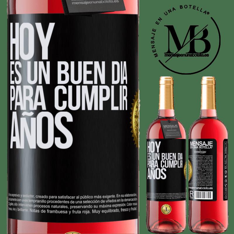 24,95 € Envoi gratuit | Vin rosé Édition ROSÉ Aujourd'hui est une bonne journée pour célébrer les années Étiquette Noire. Étiquette personnalisable Vin jeune Récolte 2020 Tempranillo