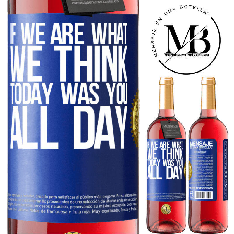 24,95 € Free Shipping   Rosé Wine ROSÉ Edition If we are what we think, today was you all day Blue Label. Customizable label Young wine Harvest 2020 Tempranillo