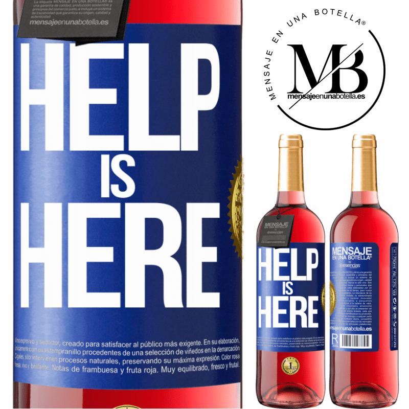 24,95 € Free Shipping | Rosé Wine ROSÉ Edition Help is Here Blue Label. Customizable label Young wine Harvest 2020 Tempranillo