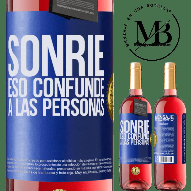24,95 € Envoi gratuit | Vin rosé Édition ROSÉ Sourire, qui déroute les gens Étiquette Bleue. Étiquette personnalisable Vin jeune Récolte 2020 Tempranillo