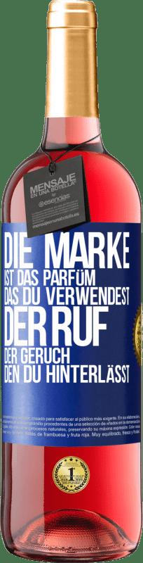 24,95 € Kostenloser Versand | Roséwein ROSÉ Ausgabe Marke ist das Parfüm, das Sie verwenden. Ruf, der Geruch, den du hinterlässt Blaue Markierung. Anpassbares Etikett Junger Wein Ernte 2020 Tempranillo