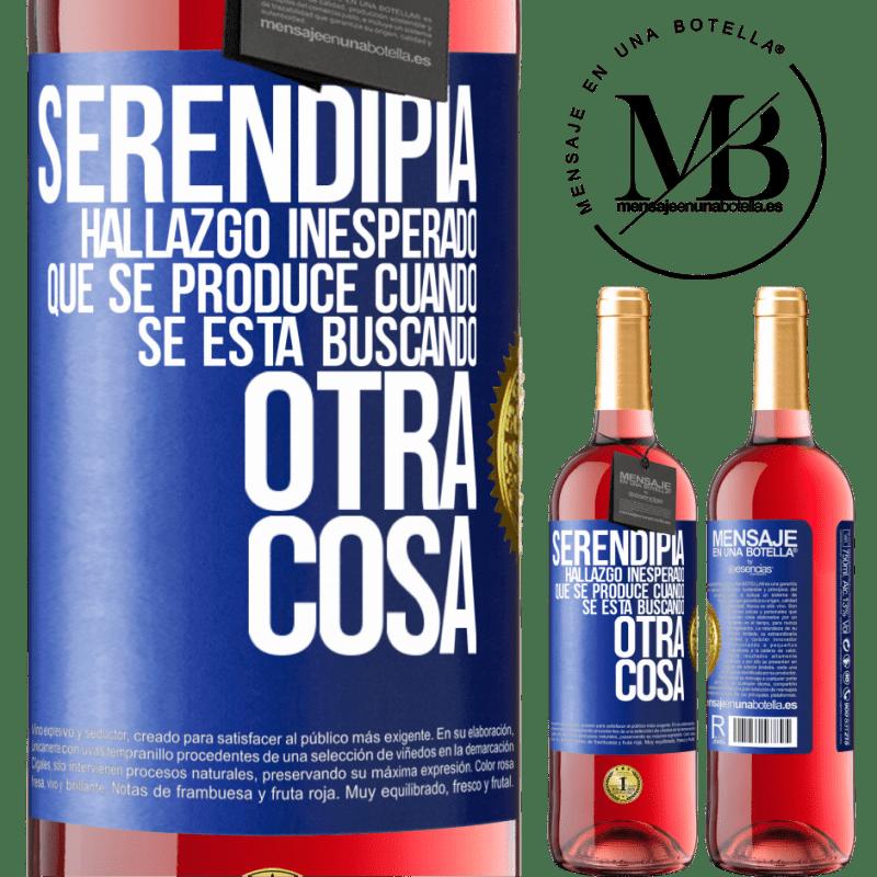 24,95 € Envoi gratuit   Vin rosé Édition ROSÉ Serendipity Découverte inattendue qui se produit lorsque vous recherchez autre chose Étiquette Bleue. Étiquette personnalisable Vin jeune Récolte 2020 Tempranillo