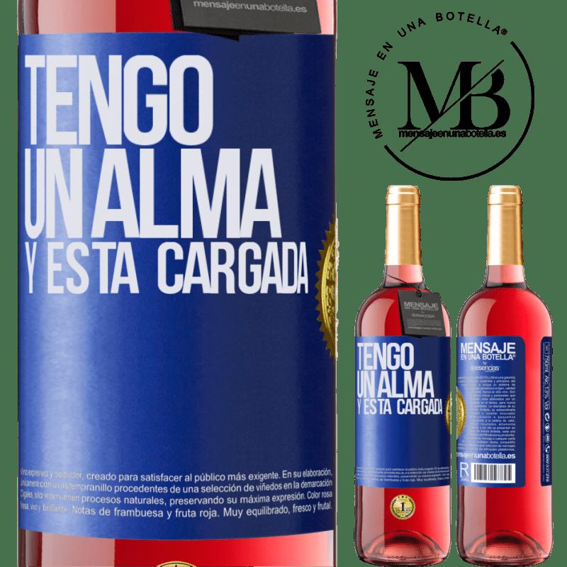 24,95 € Envoi gratuit   Vin rosé Édition ROSÉ Tengo un alma y está cargada Étiquette Bleue. Étiquette personnalisable Vin jeune Récolte 2020 Tempranillo