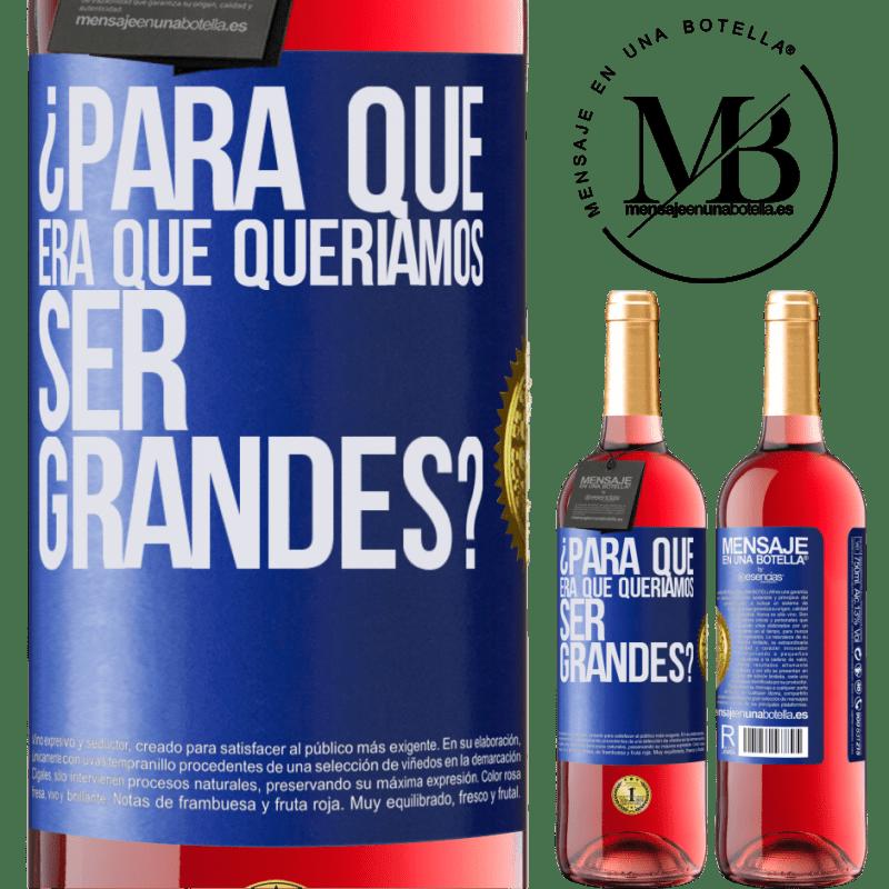 24,95 € Envoi gratuit | Vin rosé Édition ROSÉ pourquoi voulions-nous être formidables? Étiquette Bleue. Étiquette personnalisable Vin jeune Récolte 2020 Tempranillo