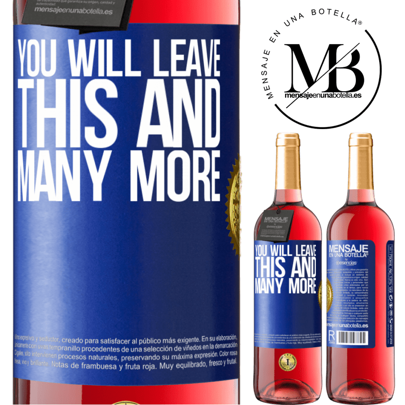 24,95 € Free Shipping   Rosé Wine ROSÉ Edition You will leave this and many more Blue Label. Customizable label Young wine Harvest 2020 Tempranillo