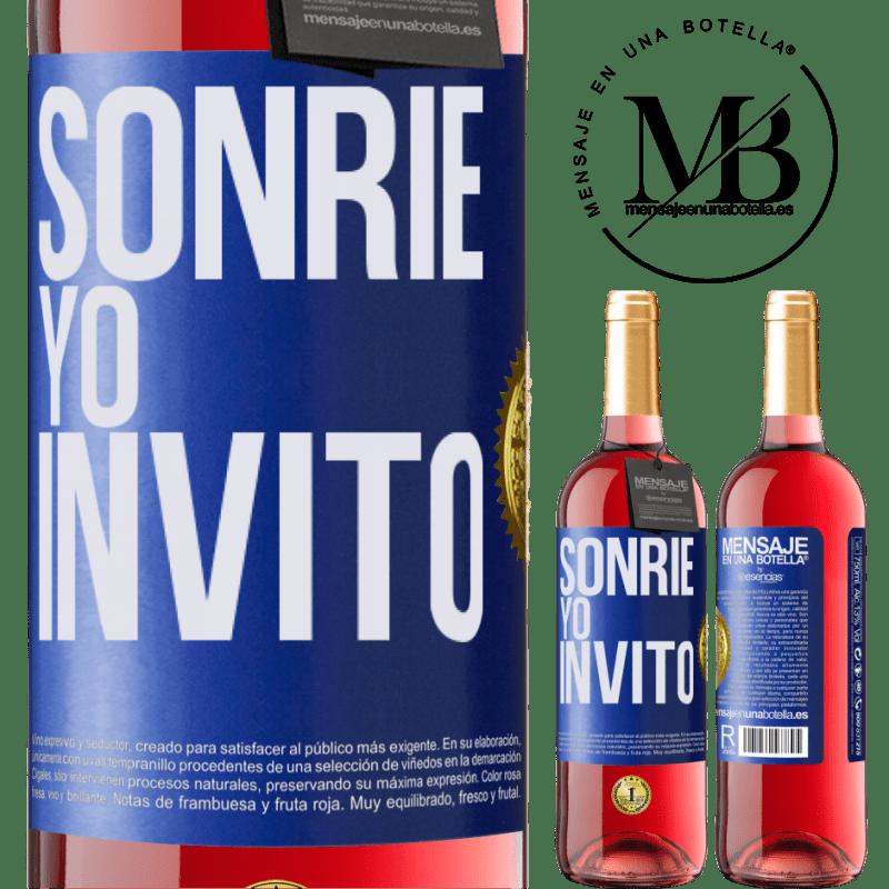 24,95 € Envoi gratuit   Vin rosé Édition ROSÉ Souris, j'invite Étiquette Bleue. Étiquette personnalisable Vin jeune Récolte 2020 Tempranillo