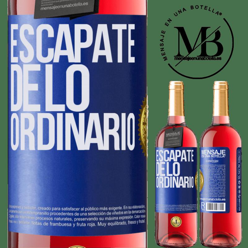 24,95 € Envoi gratuit | Vin rosé Édition ROSÉ Échapper à l'ordinaire Étiquette Bleue. Étiquette personnalisable Vin jeune Récolte 2020 Tempranillo