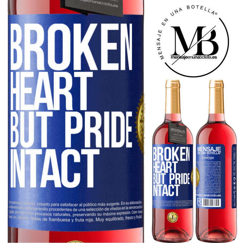 24,95 € Free Shipping | Rosé Wine ROSÉ Edition The broken heart But pride intact Blue Label. Customizable label Young wine Harvest 2020 Tempranillo