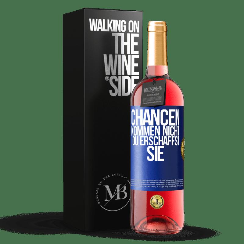 24,95 € Kostenloser Versand | Roséwein ROSÉ Ausgabe Die Möglichkeiten gehen nicht vorbei. Du erschaffst sie Blaue Markierung. Anpassbares Etikett Junger Wein Ernte 2020 Tempranillo