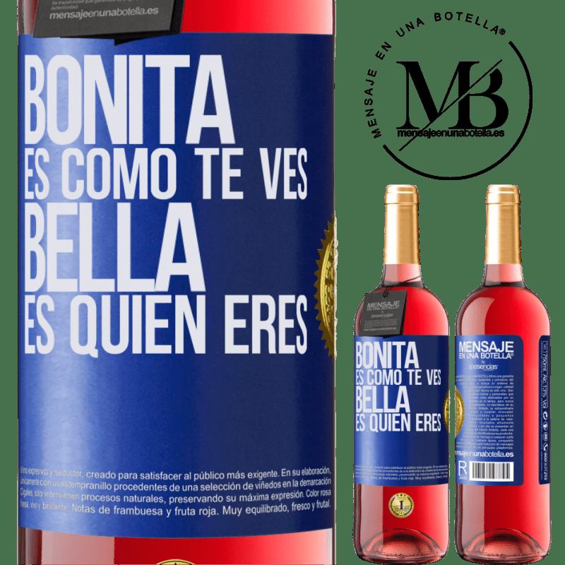 24,95 € Envoi gratuit   Vin rosé Édition ROSÉ C'est joli à quoi tu ressemble, belle est qui tu es Étiquette Bleue. Étiquette personnalisable Vin jeune Récolte 2020 Tempranillo