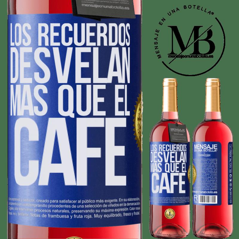 24,95 € Envoi gratuit | Vin rosé Édition ROSÉ Les souvenirs révèlent plus que du café Étiquette Bleue. Étiquette personnalisable Vin jeune Récolte 2020 Tempranillo