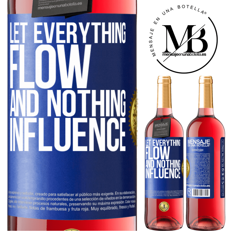 24,95 € Free Shipping | Rosé Wine ROSÉ Edition Let everything flow and nothing influence Blue Label. Customizable label Young wine Harvest 2020 Tempranillo