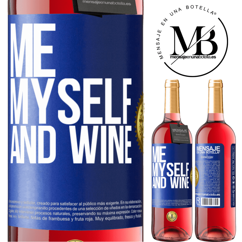 24,95 € Free Shipping | Rosé Wine ROSÉ Edition Me, myself and wine Blue Label. Customizable label Young wine Harvest 2020 Tempranillo