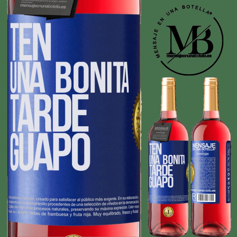 24,95 € Envoi gratuit   Vin rosé Édition ROSÉ Passez un bon après-midi, beau Étiquette Bleue. Étiquette personnalisable Vin jeune Récolte 2020 Tempranillo