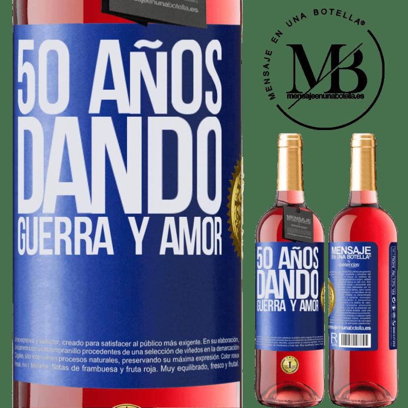 24,95 € Envoi gratuit | Vin rosé Édition ROSÉ 50 ans à donner la guerre et l'amour Étiquette Bleue. Étiquette personnalisable Vin jeune Récolte 2020 Tempranillo