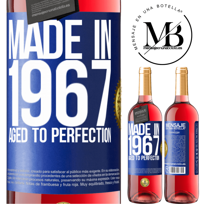 24,95 € Free Shipping | Rosé Wine ROSÉ Edition Made in 1967. Aged to perfection Blue Label. Customizable label Young wine Harvest 2020 Tempranillo