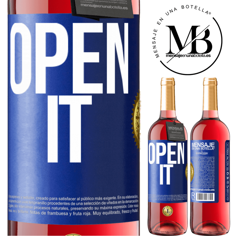 24,95 € Free Shipping | Rosé Wine ROSÉ Edition Open it Blue Label. Customizable label Young wine Harvest 2020 Tempranillo
