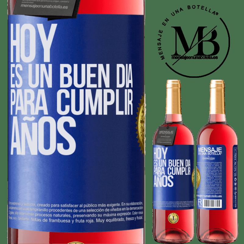 24,95 € Envoi gratuit | Vin rosé Édition ROSÉ Aujourd'hui est une bonne journée pour célébrer les années Étiquette Bleue. Étiquette personnalisable Vin jeune Récolte 2020 Tempranillo
