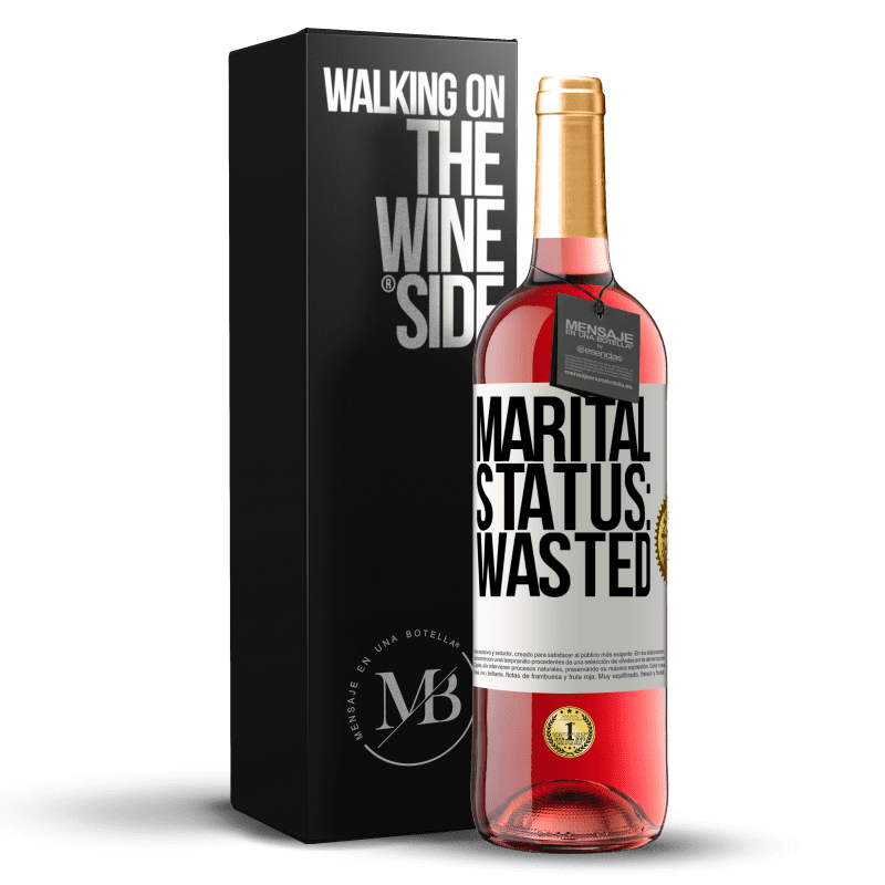24,95 € Free Shipping   Rosé Wine ROSÉ Edition Marital status: wasted White Label. Customizable label Young wine Harvest 2020 Tempranillo