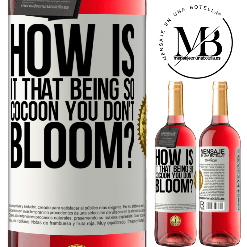 24,95 € Free Shipping   Rosé Wine ROSÉ Edition how is it that being so cocoon you don't bloom? White Label. Customizable label Young wine Harvest 2020 Tempranillo