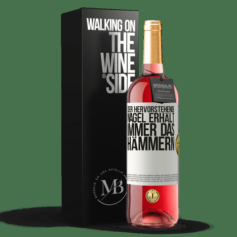 24,95 € Kostenloser Versand | Roséwein ROSÉ Ausgabe Der hervorstehende Nagel erhält immer das Hämmern Weißes Etikett. Anpassbares Etikett Junger Wein Ernte 2020 Tempranillo