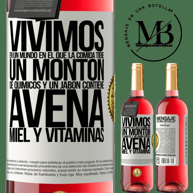 24,95 € Envoi gratuit   Vin rosé Édition ROSÉ Nous vivons dans un monde où la nourriture contient beaucoup de produits chimiques et un savon contient de la farine Étiquette Blanche. Étiquette personnalisable Vin jeune Récolte 2020 Tempranillo