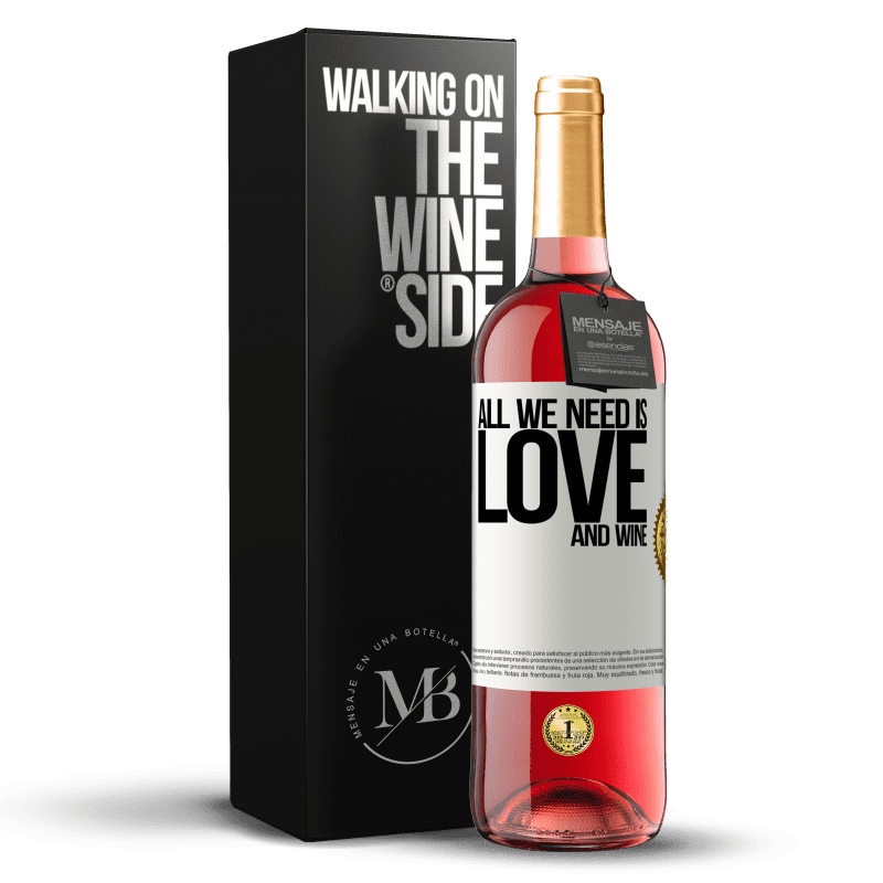24,95 € Free Shipping   Rosé Wine ROSÉ Edition All we need is love and wine White Label. Customizable label Young wine Harvest 2020 Tempranillo