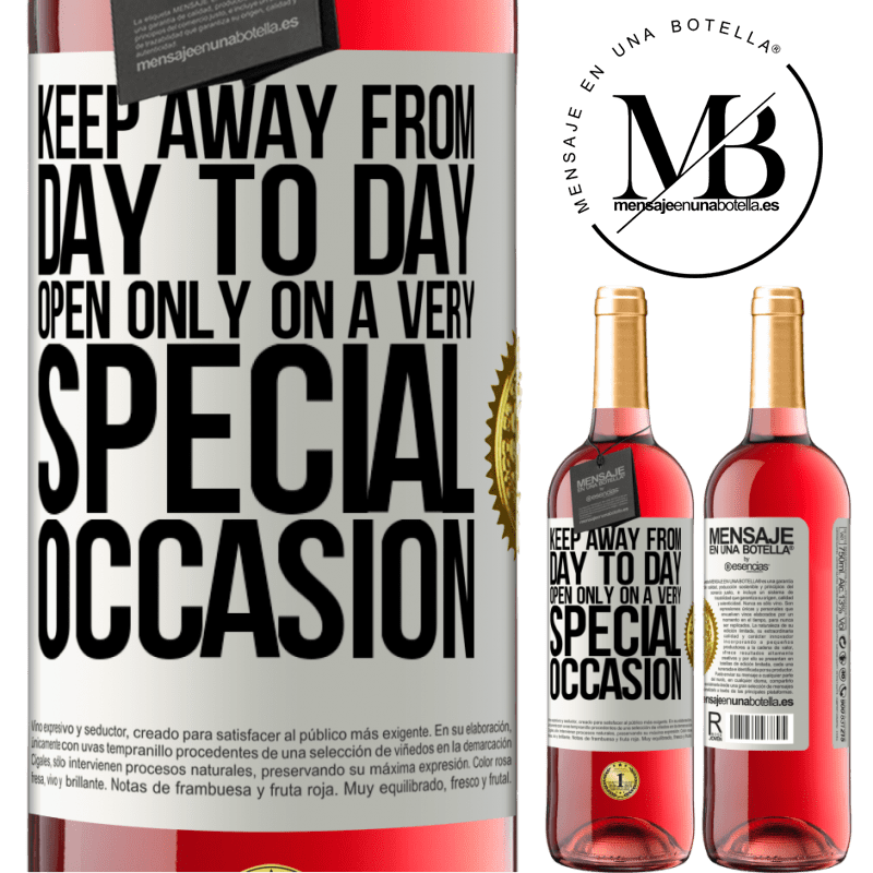 24,95 € Free Shipping   Rosé Wine ROSÉ Edition Keep away from day to day. Open only on a very special occasion White Label. Customizable label Young wine Harvest 2020 Tempranillo