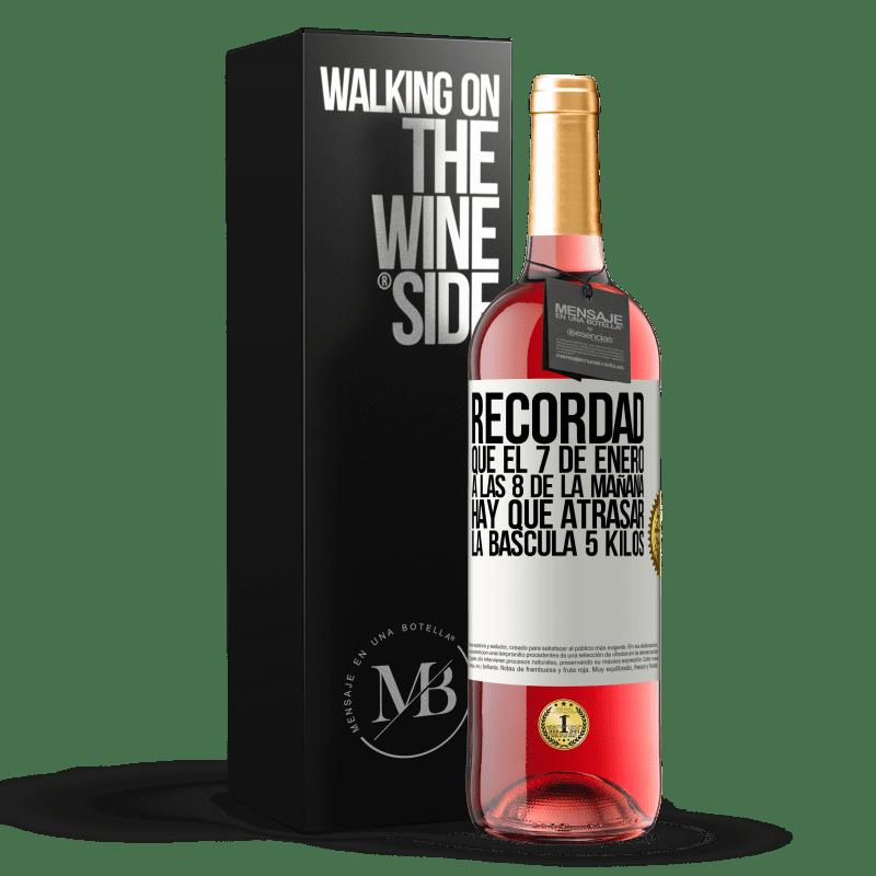24,95 € Envoi gratuit | Vin rosé Édition ROSÉ Rappelez-vous que le 7 janvier à 8 heures du matin, vous devez retarder l'échelle de 5 kilos Étiquette Blanche. Étiquette personnalisable Vin jeune Récolte 2020 Tempranillo