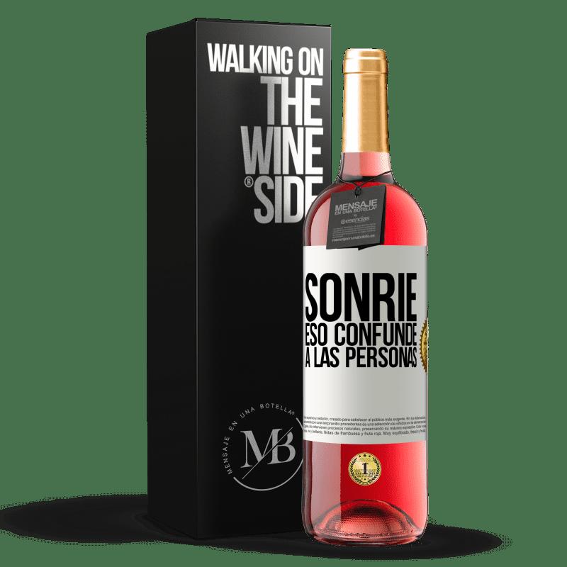 24,95 € Envoi gratuit | Vin rosé Édition ROSÉ Sourire, qui déroute les gens Étiquette Blanche. Étiquette personnalisable Vin jeune Récolte 2020 Tempranillo