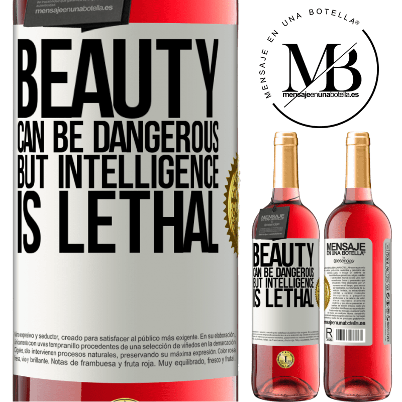 24,95 € Free Shipping   Rosé Wine ROSÉ Edition Beauty can be dangerous, but intelligence is lethal White Label. Customizable label Young wine Harvest 2020 Tempranillo