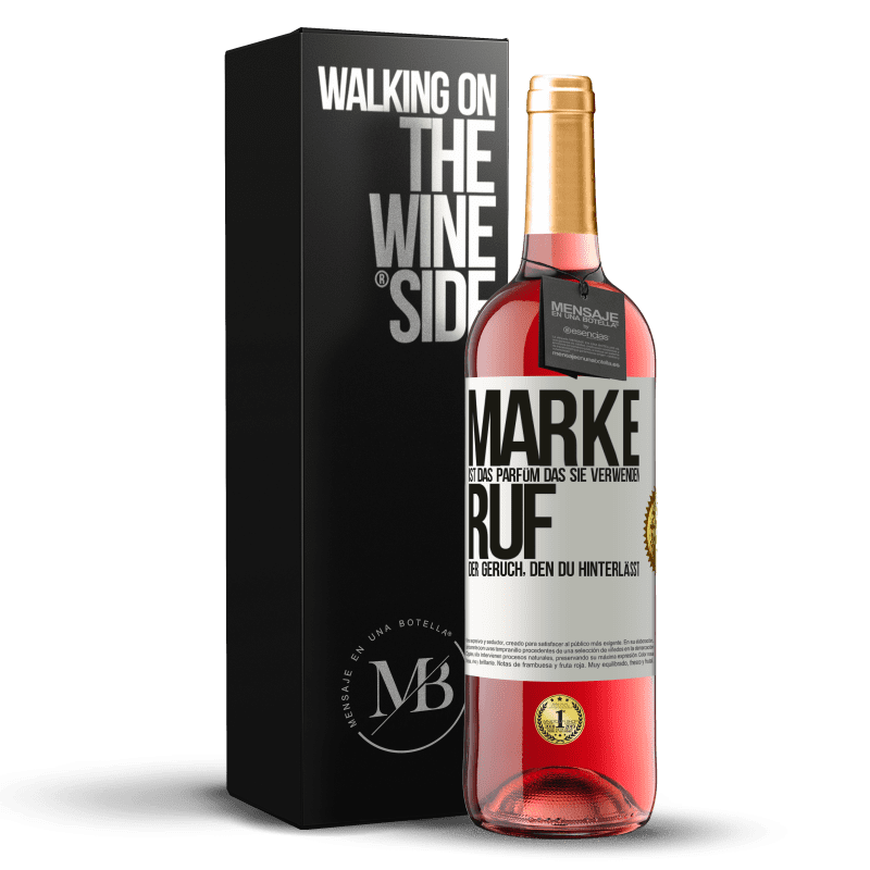 24,95 € Kostenloser Versand | Roséwein ROSÉ Ausgabe Marke ist das Parfüm, das Sie verwenden. Ruf, der Geruch, den du hinterlässt Weißes Etikett. Anpassbares Etikett Junger Wein Ernte 2020 Tempranillo