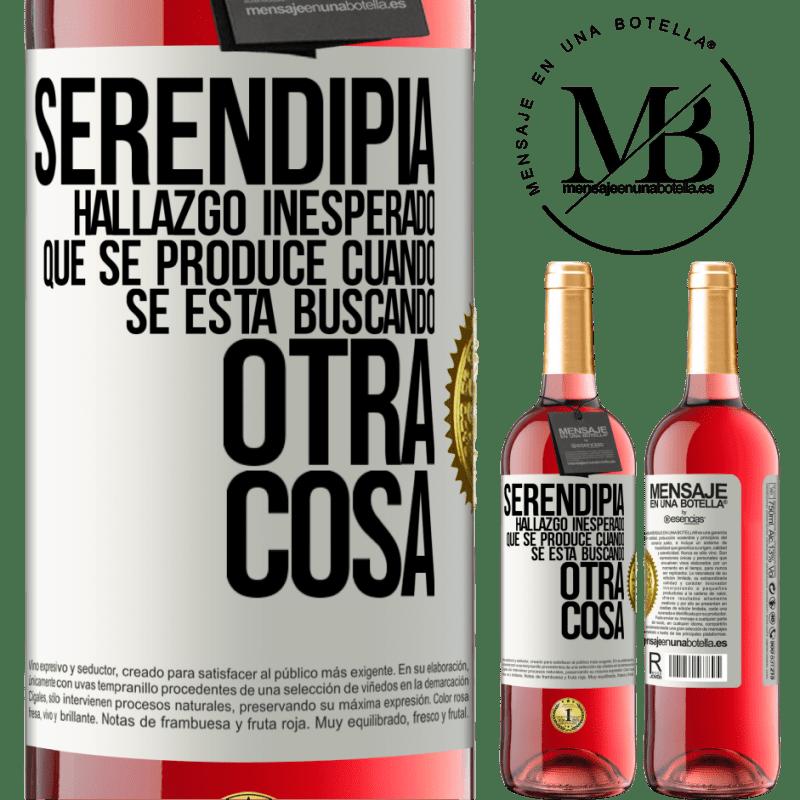 24,95 € Envoi gratuit   Vin rosé Édition ROSÉ Serendipity Découverte inattendue qui se produit lorsque vous recherchez autre chose Étiquette Blanche. Étiquette personnalisable Vin jeune Récolte 2020 Tempranillo