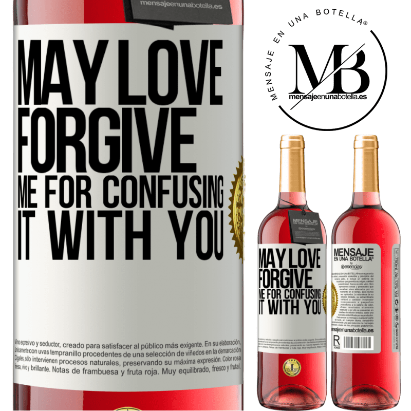 24,95 € Free Shipping | Rosé Wine ROSÉ Edition May love forgive me for confusing it with you White Label. Customizable label Young wine Harvest 2020 Tempranillo