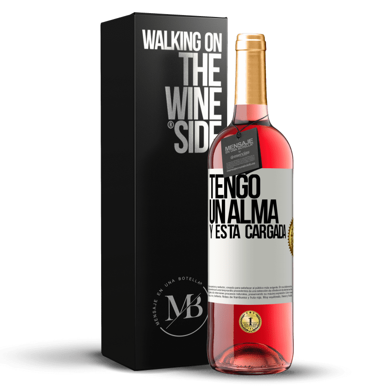 24,95 € Free Shipping | Rosé Wine ROSÉ Edition Tengo un alma y está cargada White Label. Customizable label Young wine Harvest 2020 Tempranillo