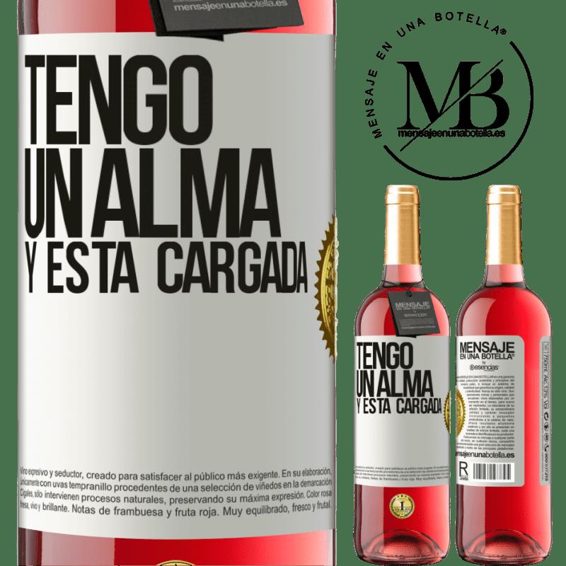 24,95 € Envoi gratuit   Vin rosé Édition ROSÉ Tengo un alma y está cargada Étiquette Blanche. Étiquette personnalisable Vin jeune Récolte 2020 Tempranillo