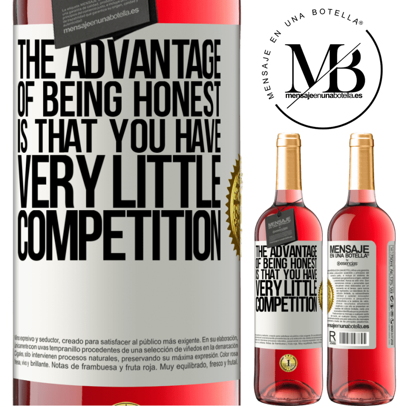 24,95 € Free Shipping   Rosé Wine ROSÉ Edition The advantage of being honest is that you have very little competition White Label. Customizable label Young wine Harvest 2020 Tempranillo