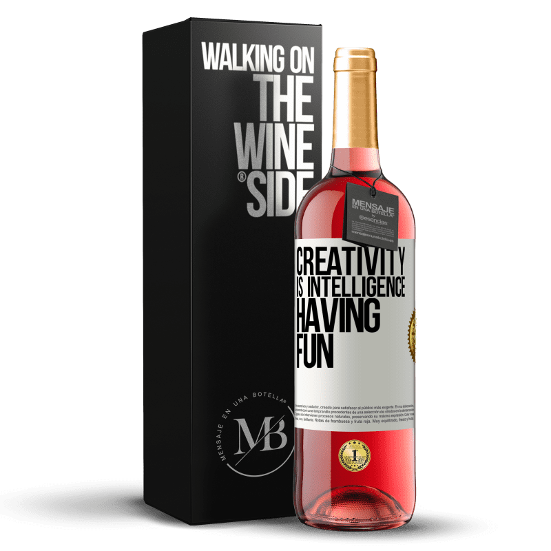 24,95 € Free Shipping   Rosé Wine ROSÉ Edition Creativity is intelligence having fun White Label. Customizable label Young wine Harvest 2020 Tempranillo