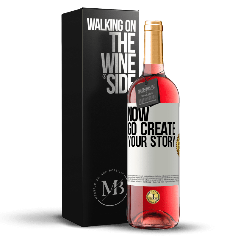 24,95 € Free Shipping   Rosé Wine ROSÉ Edition Now, go create your story White Label. Customizable label Young wine Harvest 2020 Tempranillo