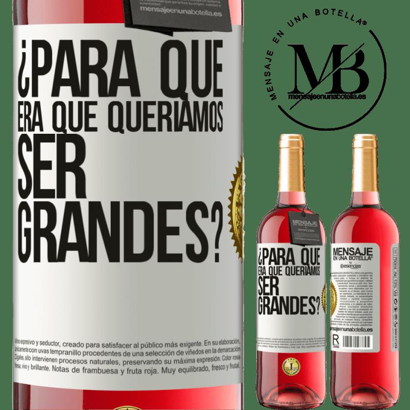 24,95 € Envoi gratuit | Vin rosé Édition ROSÉ pourquoi voulions-nous être formidables? Étiquette Blanche. Étiquette personnalisable Vin jeune Récolte 2020 Tempranillo