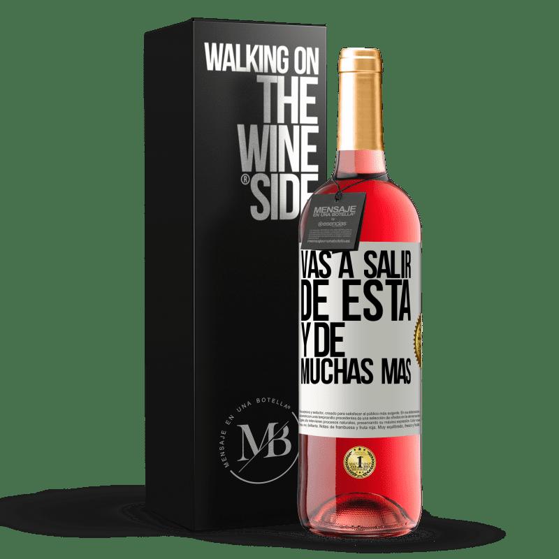 24,95 € Envoi gratuit | Vin rosé Édition ROSÉ Vous quitterez cela et bien d'autres Étiquette Blanche. Étiquette personnalisable Vin jeune Récolte 2020 Tempranillo