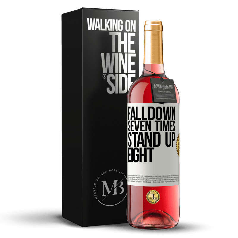 24,95 € Free Shipping | Rosé Wine ROSÉ Edition Falldown seven times. Stand up eight White Label. Customizable label Young wine Harvest 2020 Tempranillo