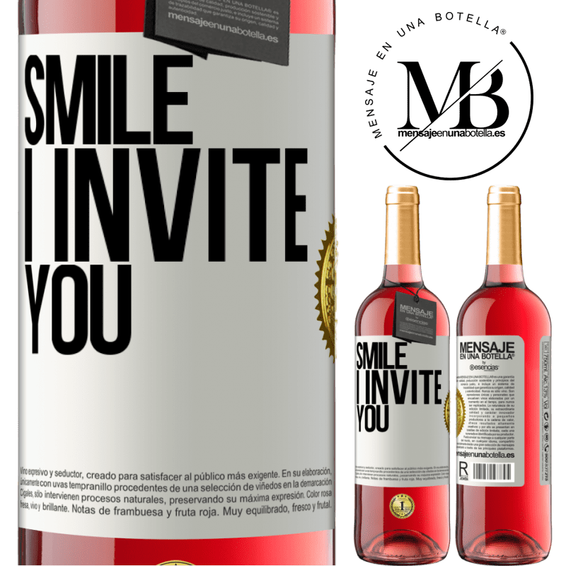 24,95 € Free Shipping | Rosé Wine ROSÉ Edition Smile I invite you White Label. Customizable label Young wine Harvest 2020 Tempranillo