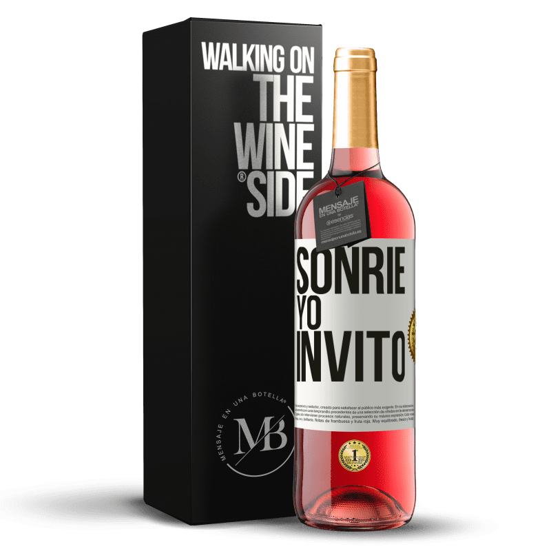 24,95 € Envoi gratuit   Vin rosé Édition ROSÉ Souris, j'invite Étiquette Blanche. Étiquette personnalisable Vin jeune Récolte 2020 Tempranillo