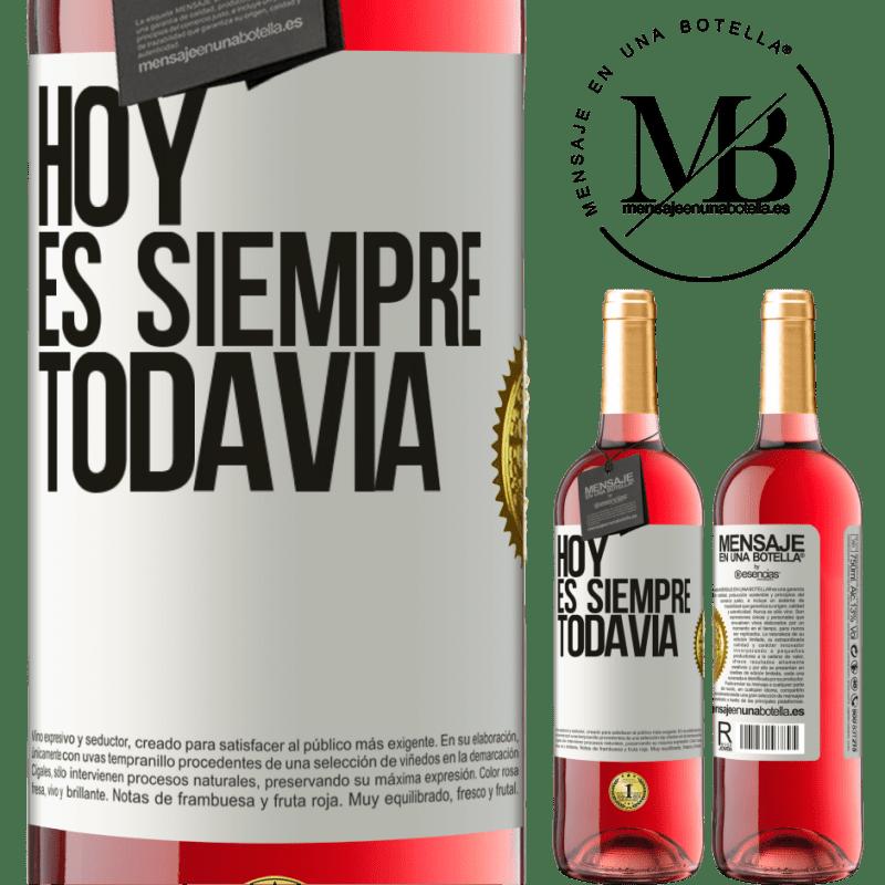 24,95 € Envoi gratuit | Vin rosé Édition ROSÉ Aujourd'hui est toujours encore Étiquette Blanche. Étiquette personnalisable Vin jeune Récolte 2020 Tempranillo