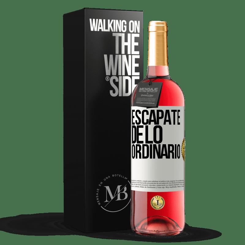 24,95 € Envoi gratuit | Vin rosé Édition ROSÉ Échapper à l'ordinaire Étiquette Blanche. Étiquette personnalisable Vin jeune Récolte 2020 Tempranillo